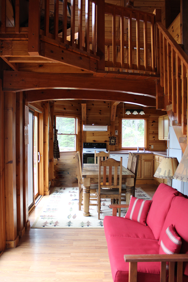 Timber Frame living and kitchen area