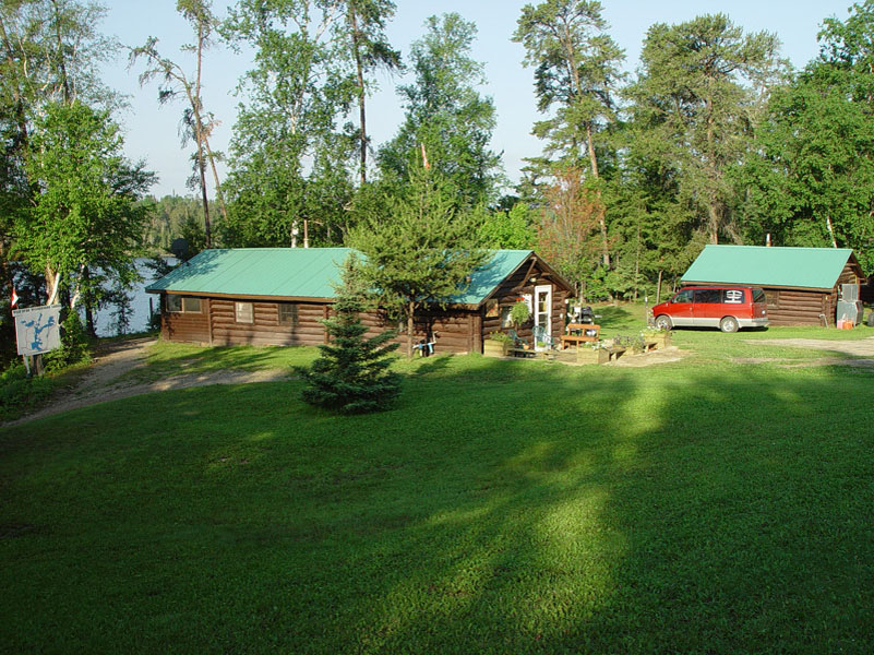 Cliff Lake Outpost log cabin main lodge